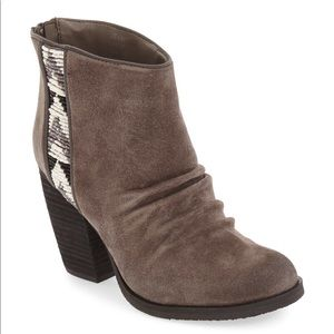 Sbicca 8.5 Kolli beaded suede ankle booties